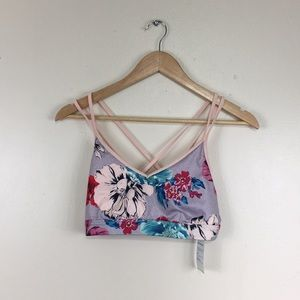 Old Navy Active Light Support Floral Sports Bra